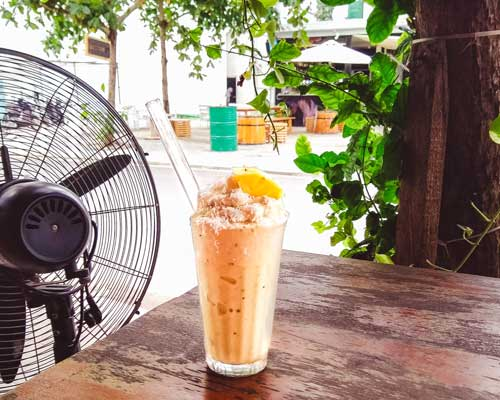 roots vegan cafe da nang vietnam smoothie