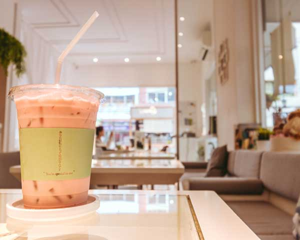 ring cafe by lumiere bangkok rose milk tea