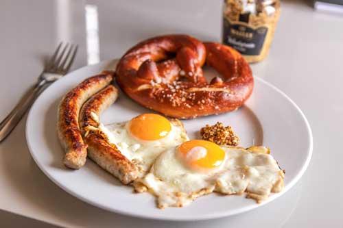 german sausages breakfast da nang vietnam